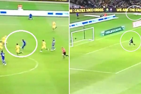 Bombaaa! Fudbaler Olimpijakosa lobovao golmana sa više od pola terena u dresu Grčke! (VIDEO)