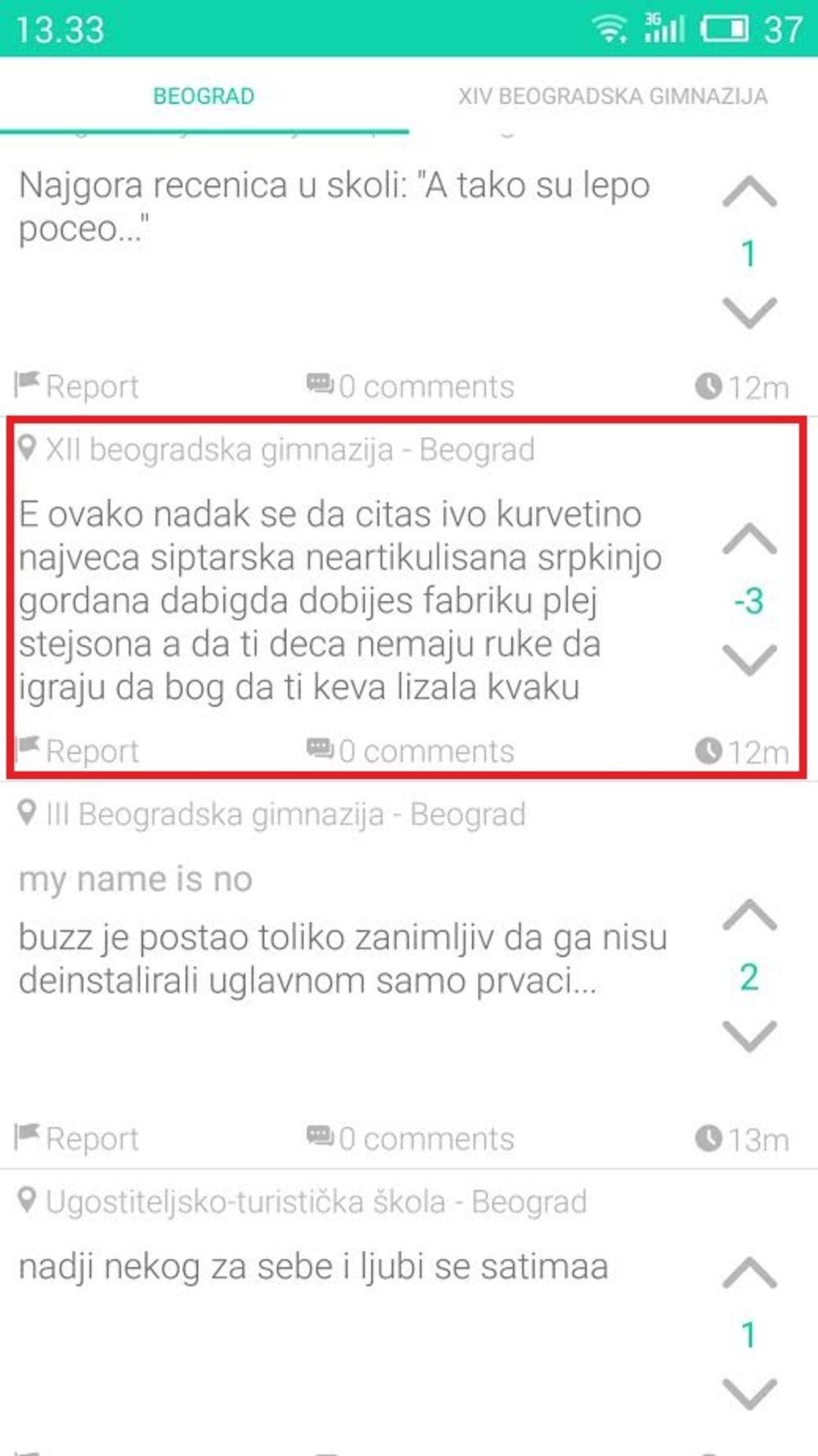 Buzz aplikacija