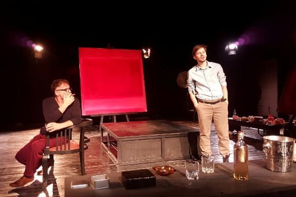 Šta se desi u ateljeu - OSTAJE U ATELJEU: Predstava Crvena na sceni DKSG