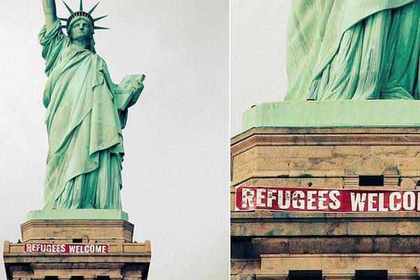 Izbeglice, dobrodošli! Ovaj plakat čini Ameriku velikom zemljom (FOTO) (VIDEO)