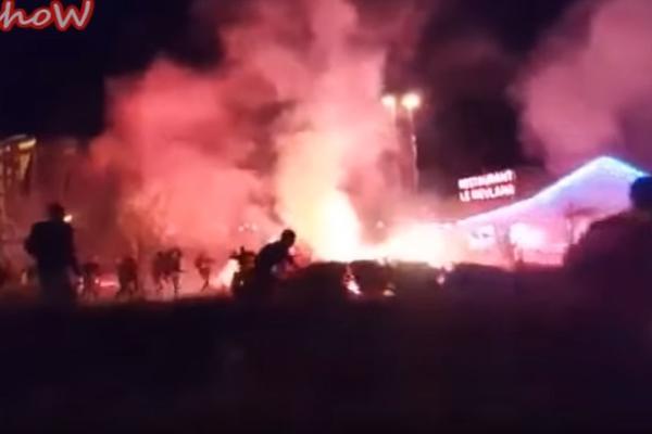 Navijački rat huligana Liona i Rome posle utakmice Lige Evrope! (VIDEO)