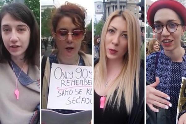 DEVOJKE NA PROTESTU RECITUJU O SLOBODI: Reči pesnika NAJBOLJE POKAZUJU ZAŠTO SRBIJA ŠETA! (VIDEO)