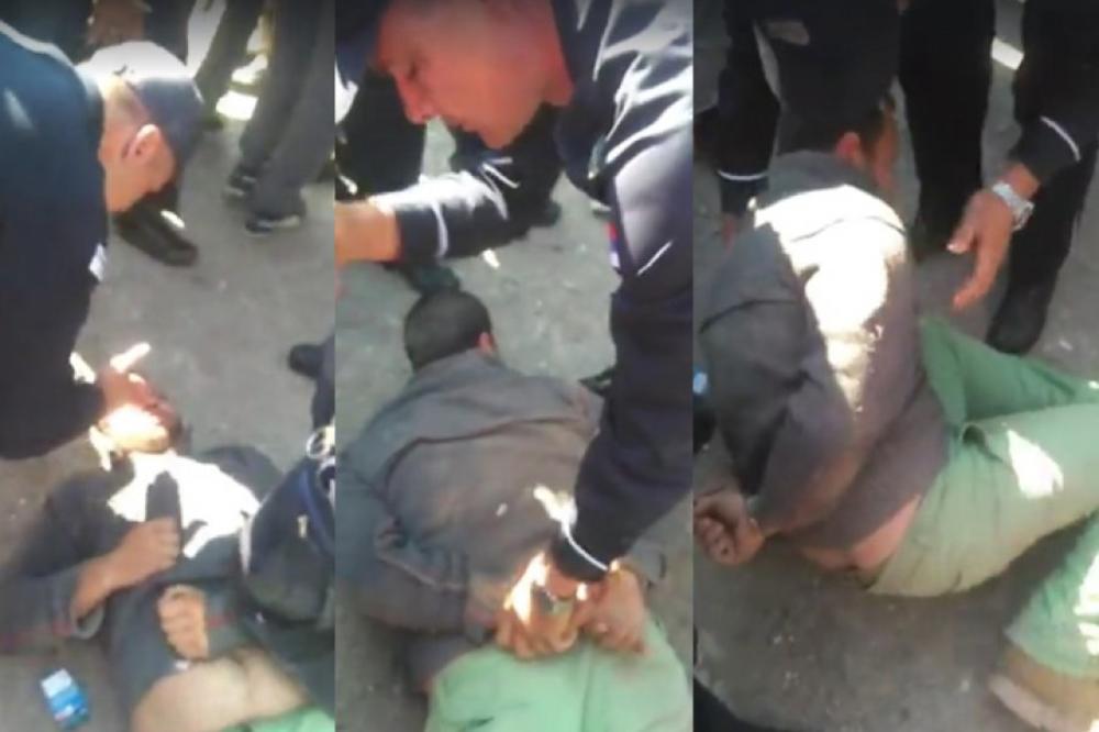 MUČILI GA, SEDELI MU NA GLAVI I ŠUTIRALI: Komunalci se iživljavaju nad čovekom, ljudi u šoku! (VIDEO) (FOTO)