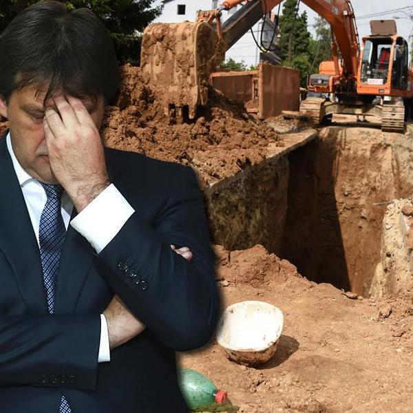 MOŽDA ĆE U BIA BITI BUDNIJI: Gašić spavao u kanalima koje je kopao, pa dobio otkaz?! (FOTO)