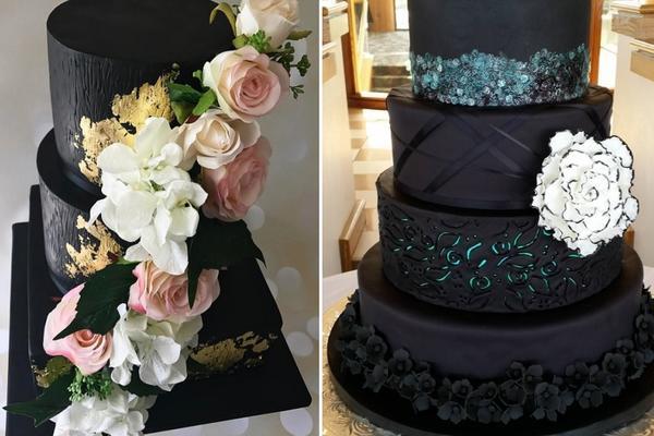 Samo za cool mladence! 25 crnih svadbenih torti koje su totalno strava! (FOTO)