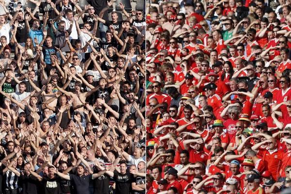 KRV ZA BRAĆU IZ SRBIJE! Velški navijači su ovim gestom kupili Grobare za sva vremena! (FOTO)