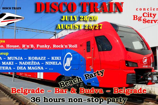 PRIDRUŽITE SE JEDINSTVENOJ ATRAKCIJI: Disko voz Beograd - Bar kreće u julu!