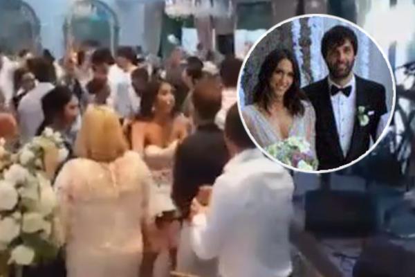 EKSKLUZIVNO: Pogledajte atmosferu na Jelisavetinoj i Teovoj svadbi! Mlada se presvukla, gosti u transu! (VIDEO)