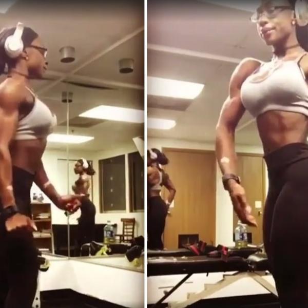 Toliko je mišićava da više ni ne znate da li izgleda lepo ili bizarno! (VIDEO)