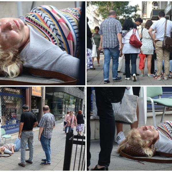 ŽENA U KRVI LEŽI NASRED ULICE: Strašan prizor zatekao je danas prolaznike u centru Beograda! (FOTO)