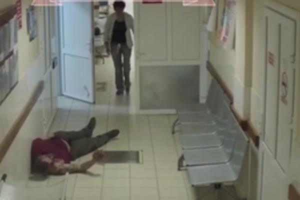 SRAMOTNO: Čovek OBLIVEN KRVLJU ležao je 20 minuta u hodniku bolnice, DOKTORI I SESTRE GA ZAOBILAZILI! (VIDEO)