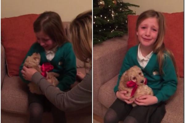 Pitali je šta bi volela za Božić, a onda joj rekli da zatvori oči. Njena reakcija je NEPROCENJIVA! (VIDEO)