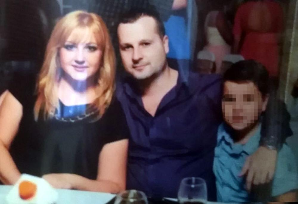 Vladan Grdanović i ubijena Jelena sa sinom