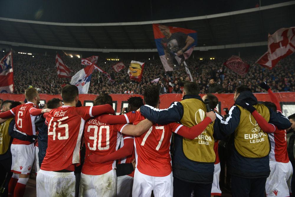 Fudbaleri Zvezde slave pobedu protiv Kelna