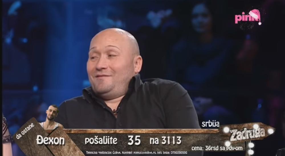 Dejan Tasić Tasa neposredno pre ulaska u Zadrugu