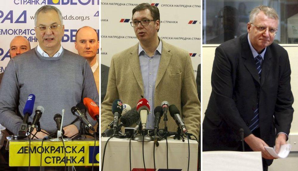 Dragan Šutanovac, Aleksandar Vučić i Vojislav Šešelj su dobili pretnje smrću