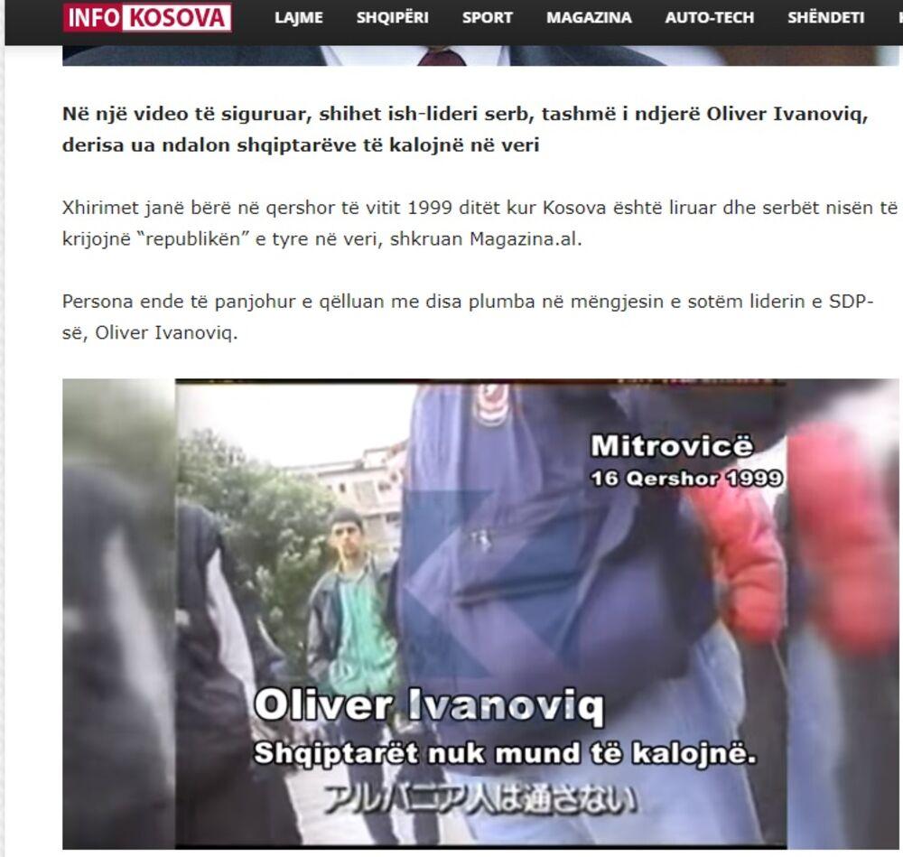 Oliver Ivanović razgovara sa Albancima