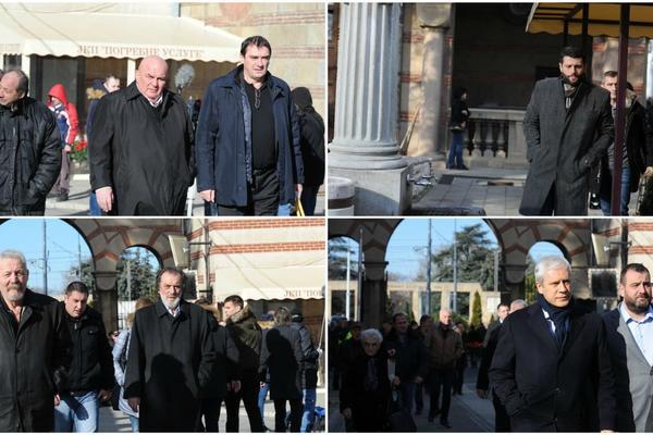 SPOJILO IH POŠTOVANJE PREMA OLIVERU: Skoro cela politička scena Srbije na sahrani Ivanovića (FOTO)