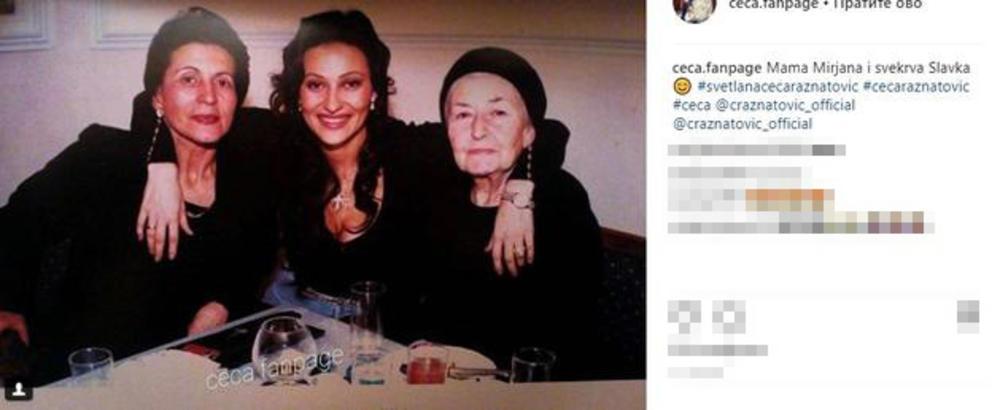 Slika na kojoj Ceca grli svoju majku i svekrvu mnogo govori o njihovom odnosu