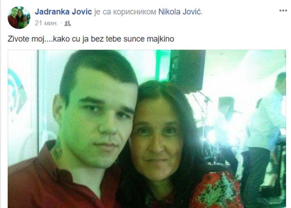 Majka ubijenog Nikole iz Leskovca grca od tuge