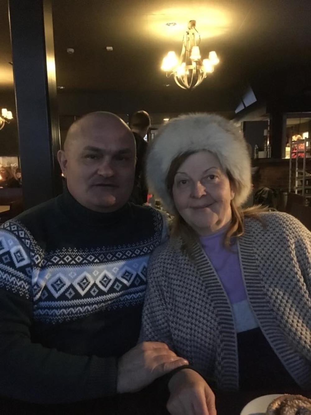 Dobrica Pavlović sa suprugom