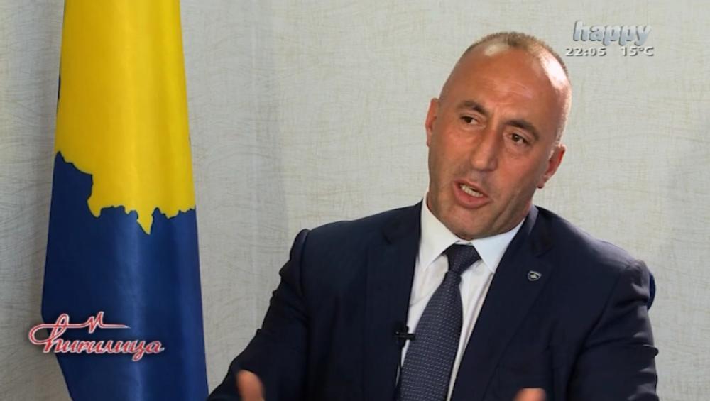 U emisiji je emitovan intervju sa Haradinajem