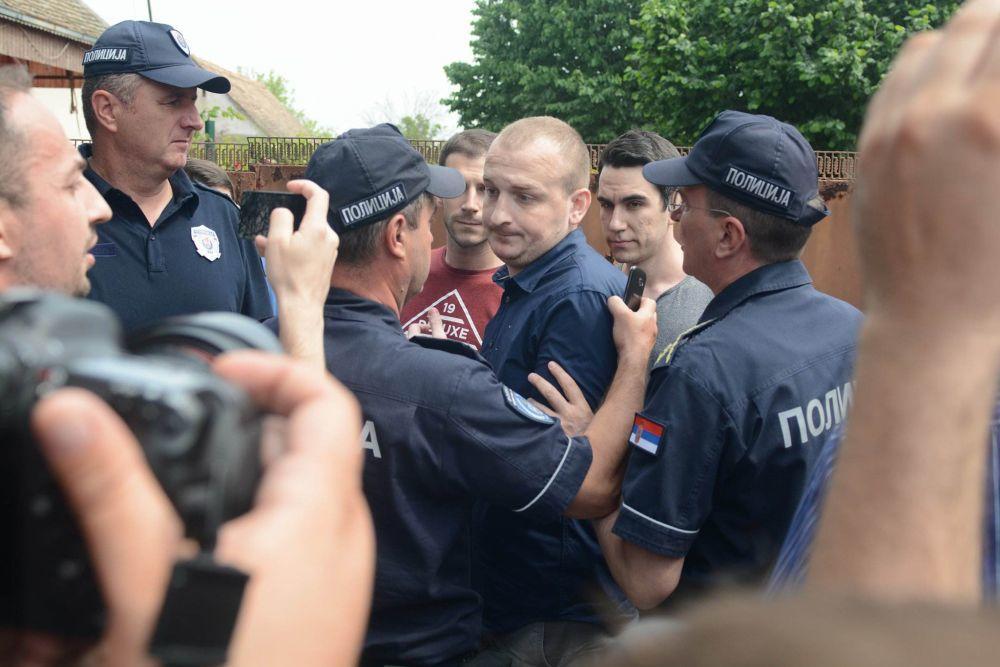 Incident u Hrtkovcima, napadnut Đorđo Žujović