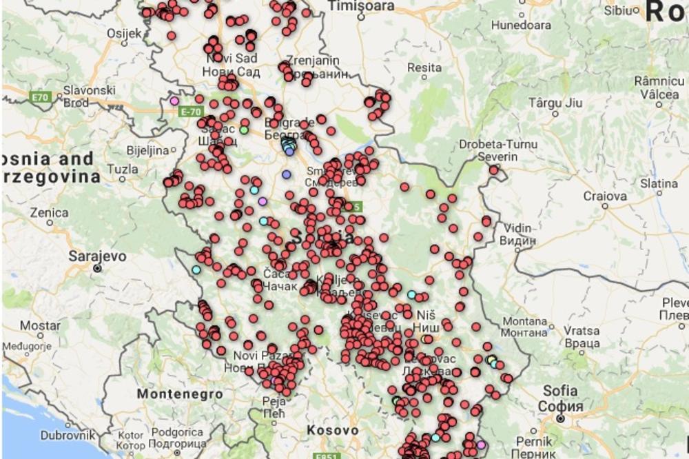 Mapa Srbije Pokazuje Koliko Je I Gde Amerika Donirala Nađite