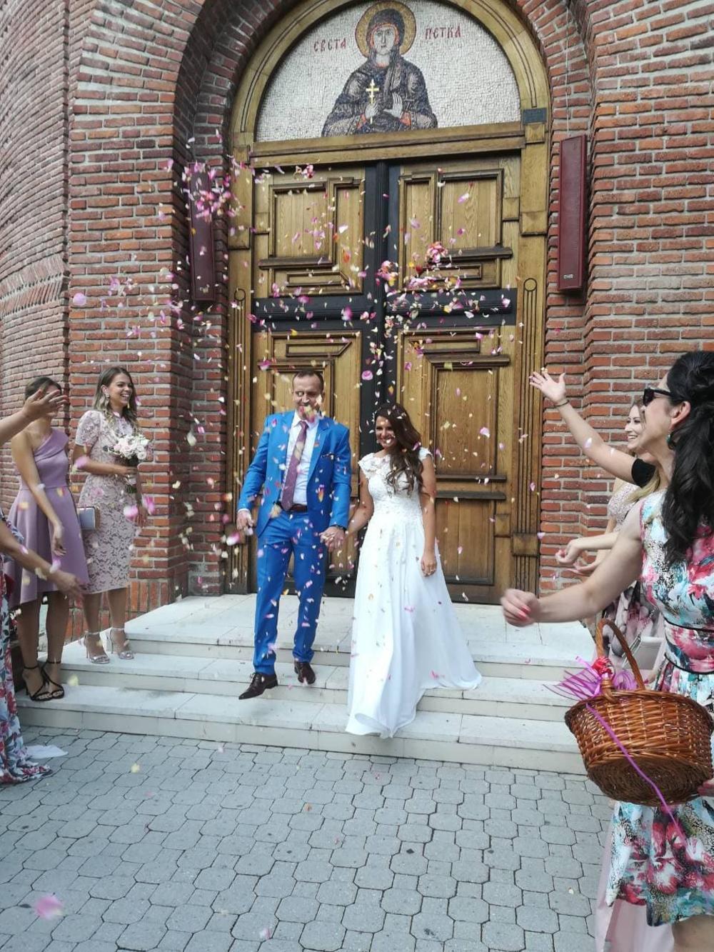 Nikolina sestra Majda na venčanju
