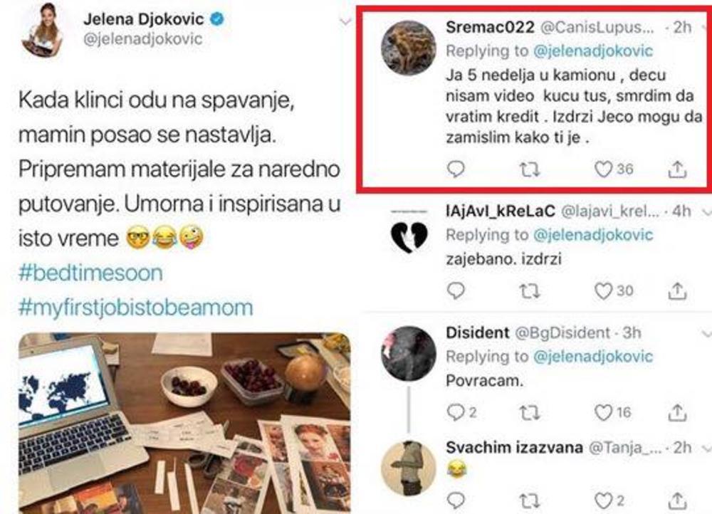 Jelena Đoković na društvenim mrežama izazvala lavinu