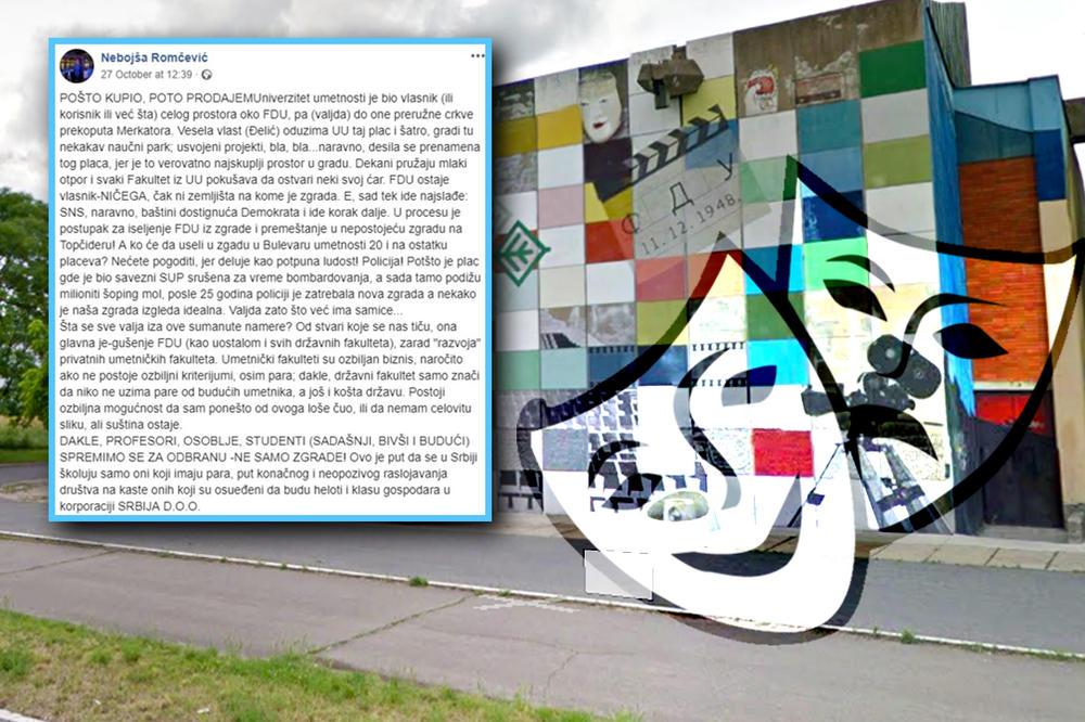 Skandal Veka Fakultet Dramskih Umetnosti Sele Sa Novog Beograda