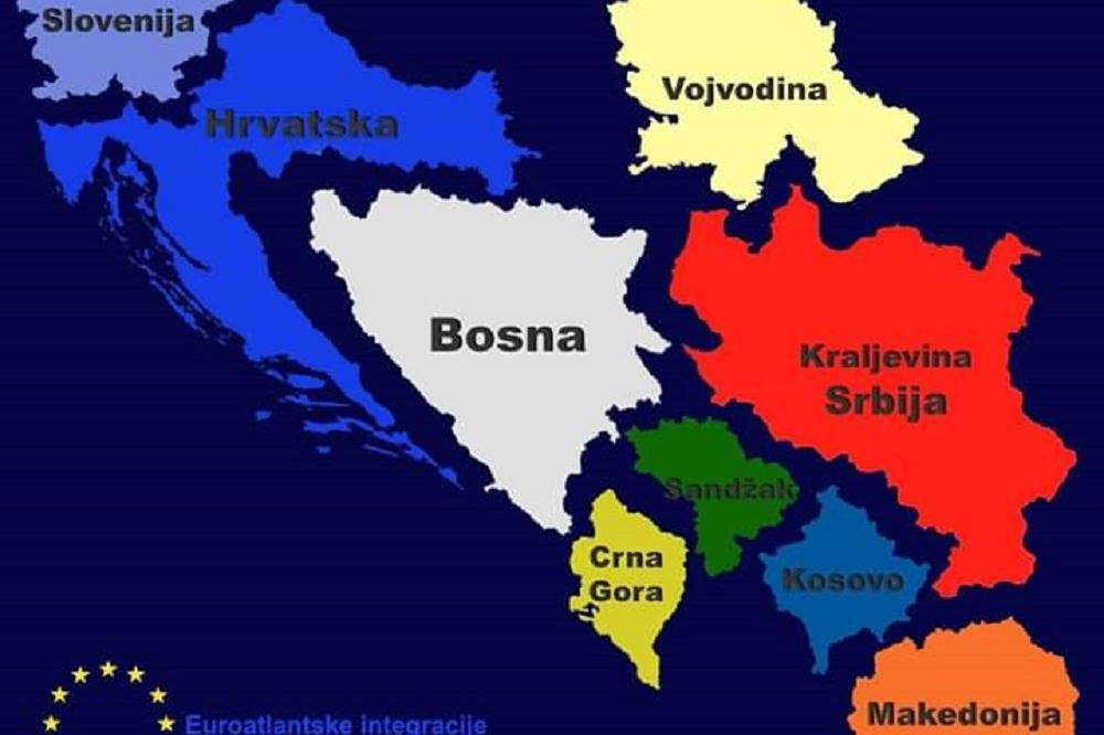 Ovo Je Mapa Rasparcane Srbije Suljin Jurisnik Otcepio Kosovo