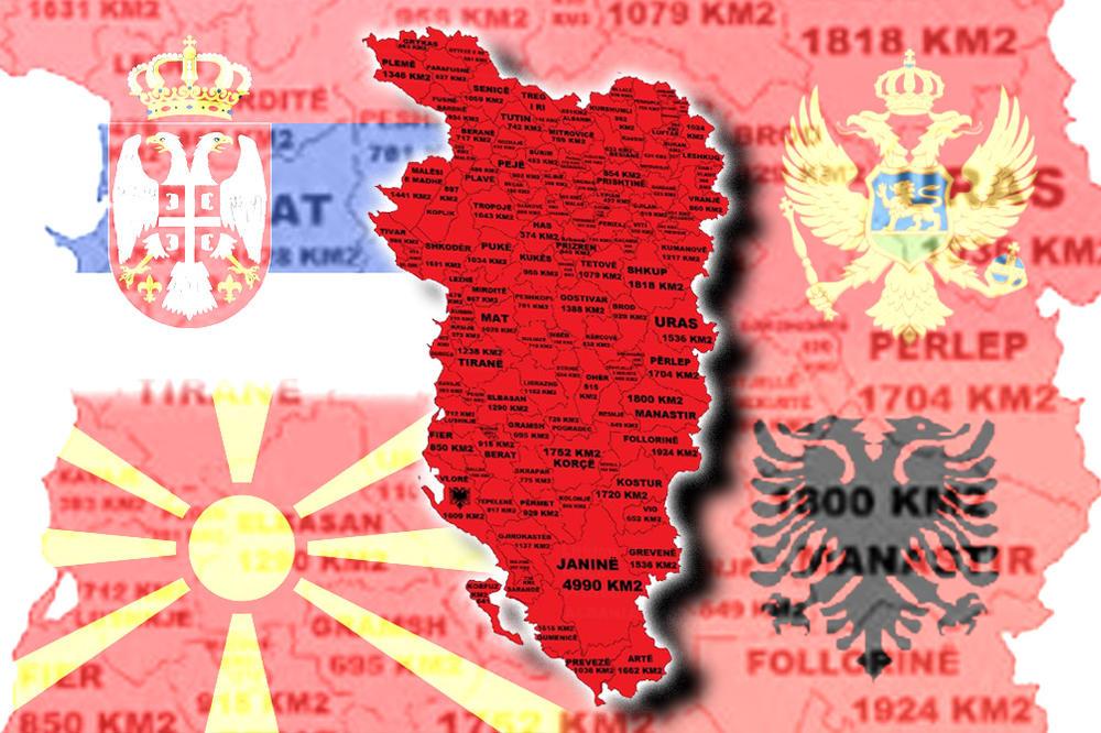 Albanski Nacionalista Poslao Nam Je Mapu Nove Velike Albanije Od