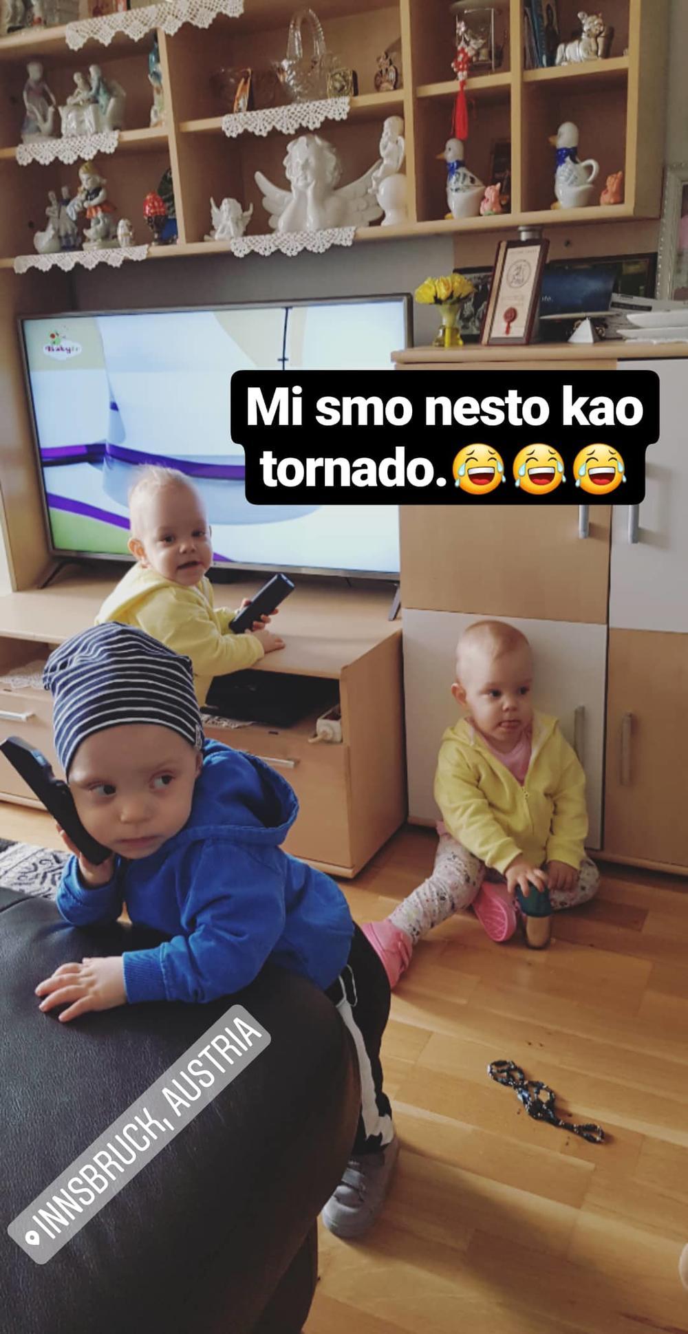 Lazar, Valerija i Valentina prave lom