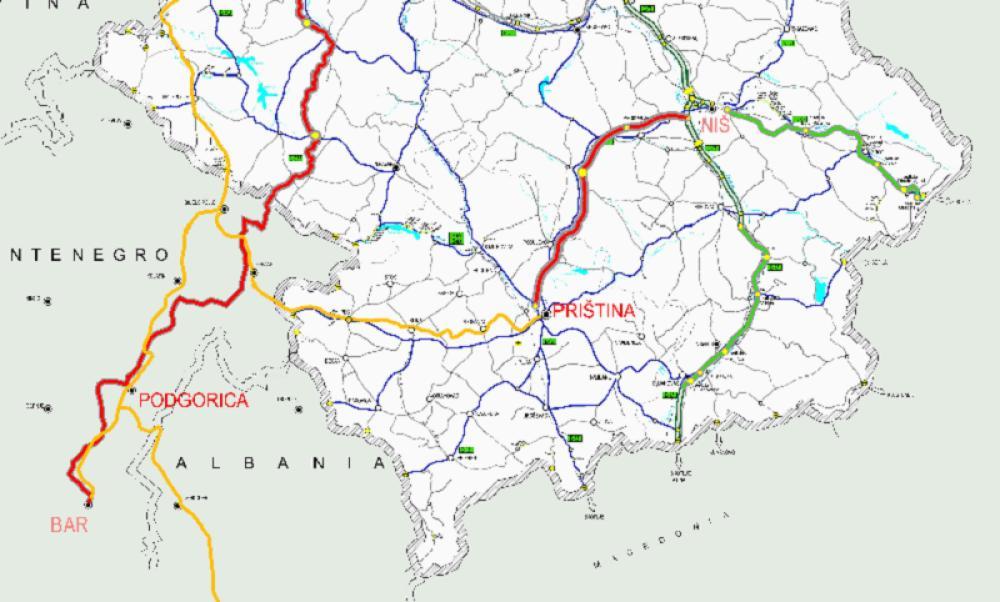 Sablasna Mapa Lazne Drzave Kosovo Osim Preseva I Bujanovca