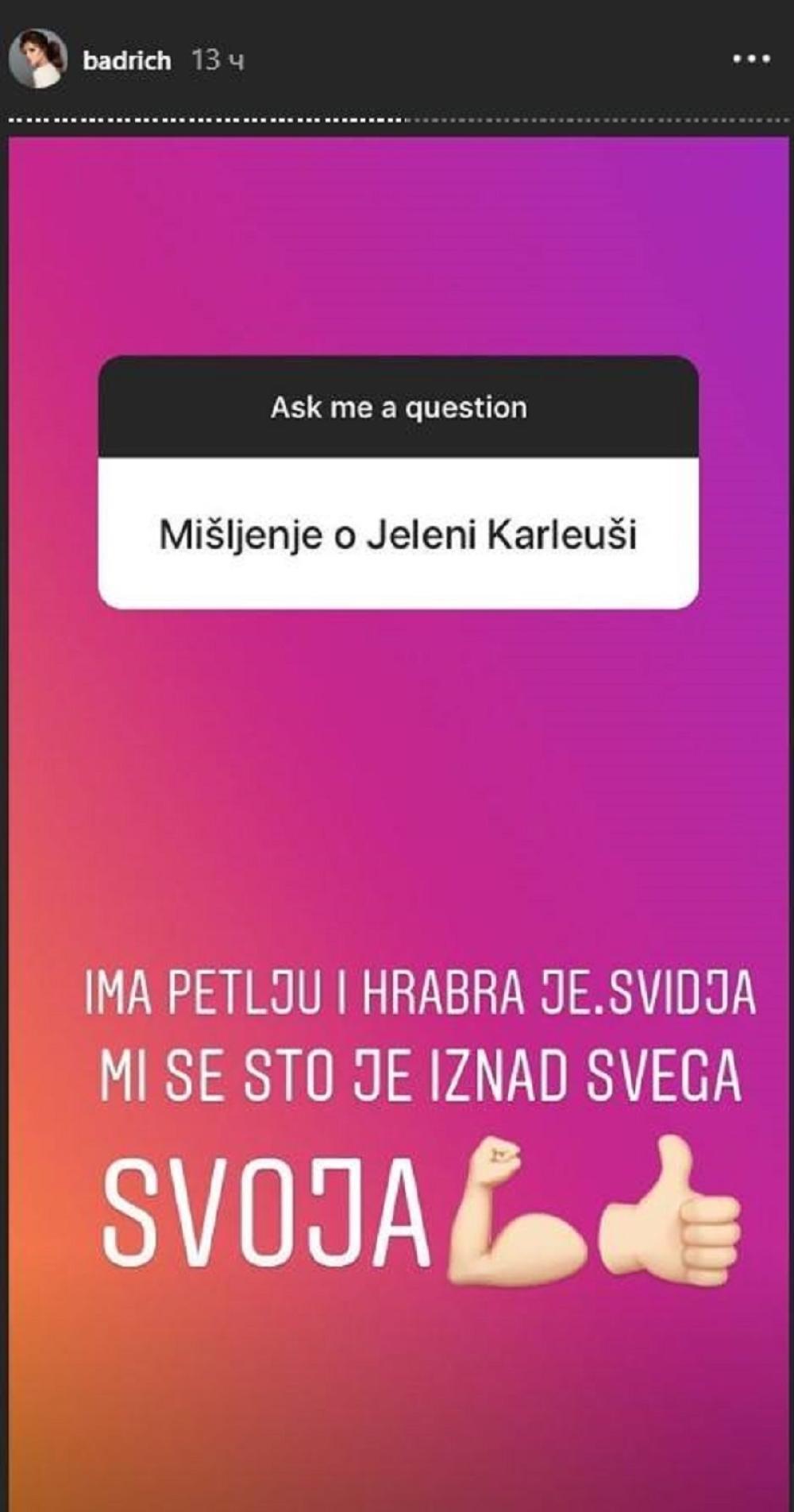 Oglasila se Nina Badrić