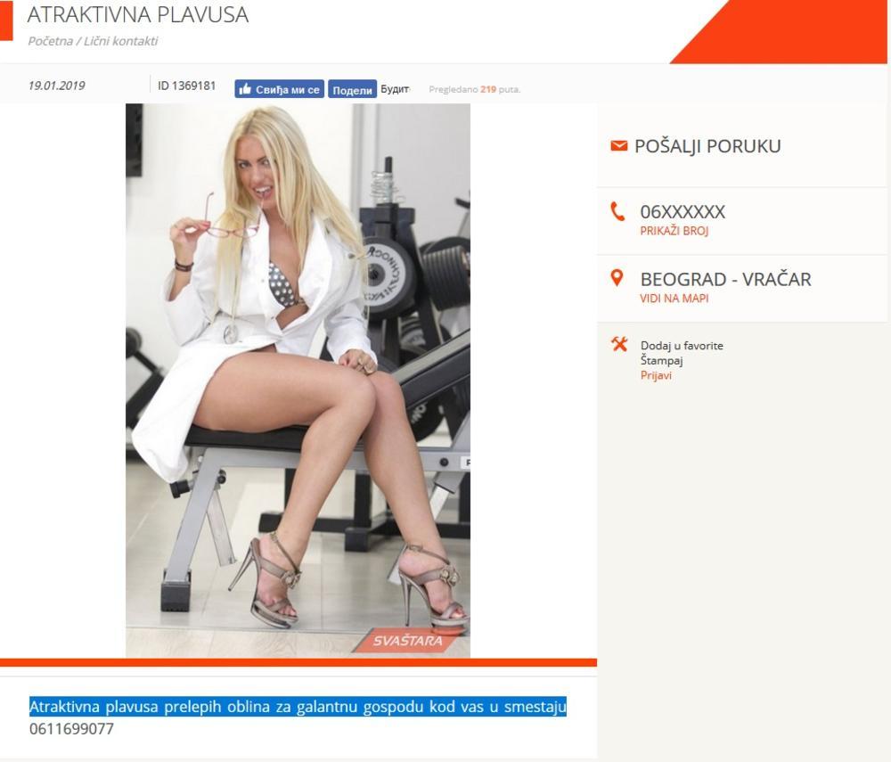Maja Pavlović na sajtu za odrasle