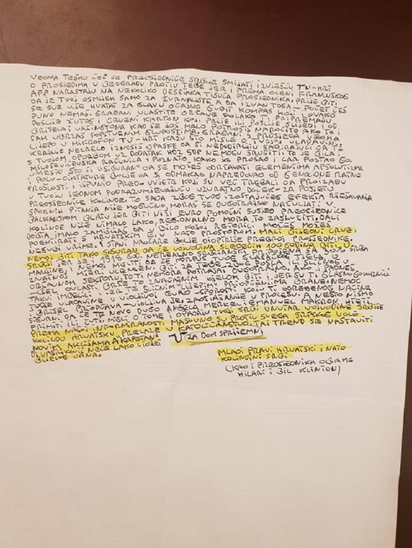 Pismo Vučiću