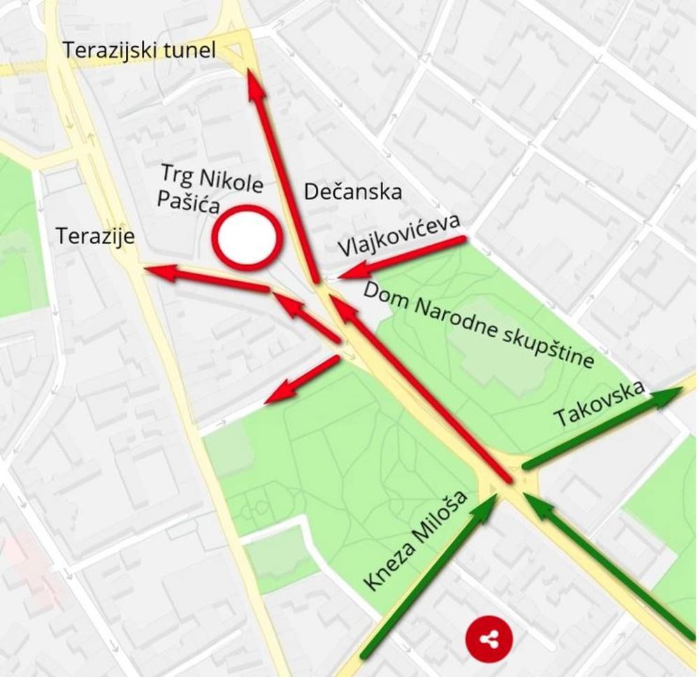 Centar Beograda Opet Blokiran Ne Idite Ako Ne Morate Izmene Na