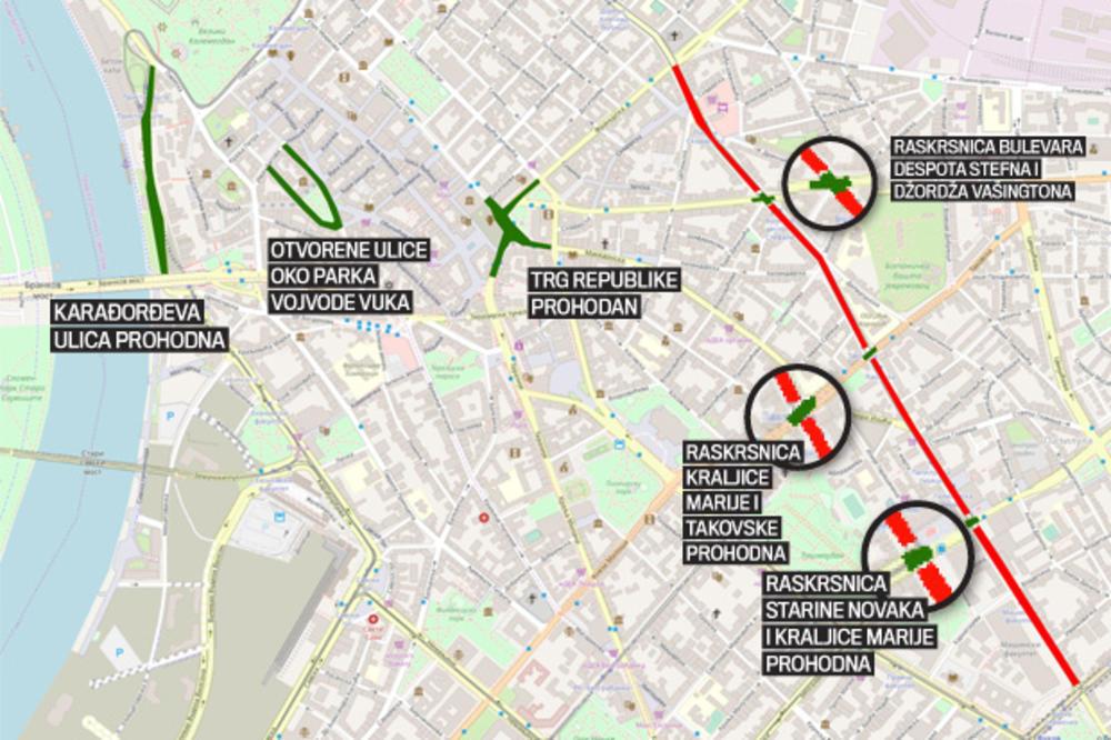 Izbegnite Guzve U Saobracaju Bice I Zatvaranja Ulica Ova Mapa Ce