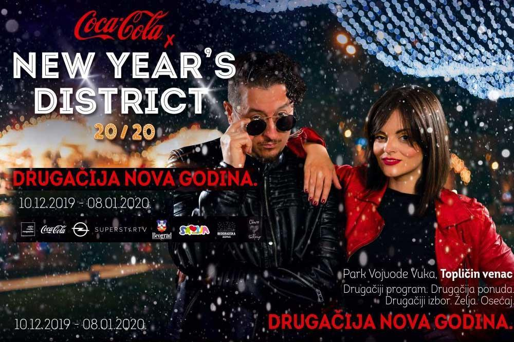 NAJBOLJI DOČEK NOVE GODINE U BEOGRADU: Coca Cola x New Year's District festival donosi super zabavu sve do Božića