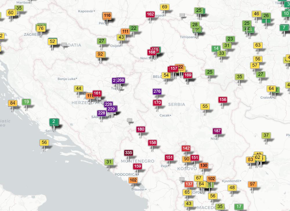 Ovo Su Trenutno Najugrozeniji Gradovi U Srbiji Detaljna Mapa
