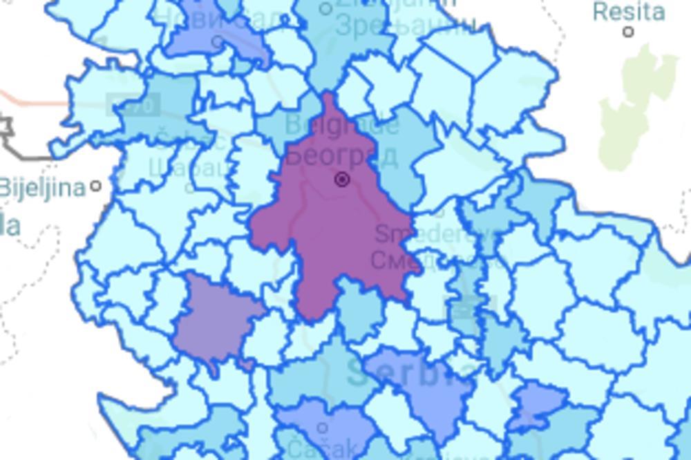 Hitno Saopstenje Vlada Otvorila Mapu Koronavirusa U Srbiji