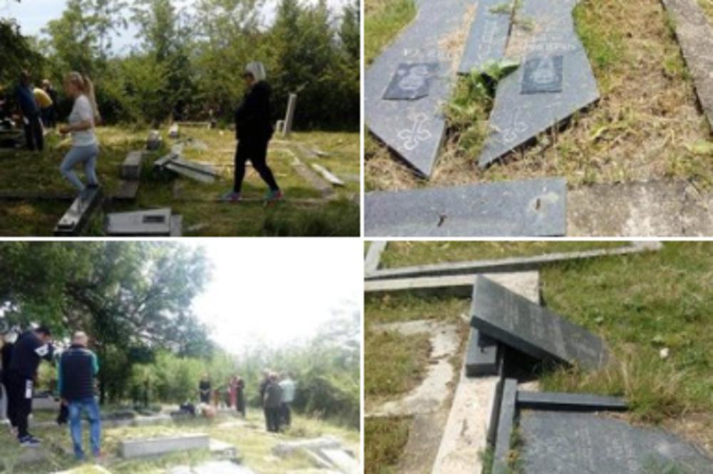 SRBI NA KOSOVU KAO DA NEMAJU DOVOLJNO MUKA! Vandali RAZORILI naše grobove, LJUDI U SUZAMA (FOTO)