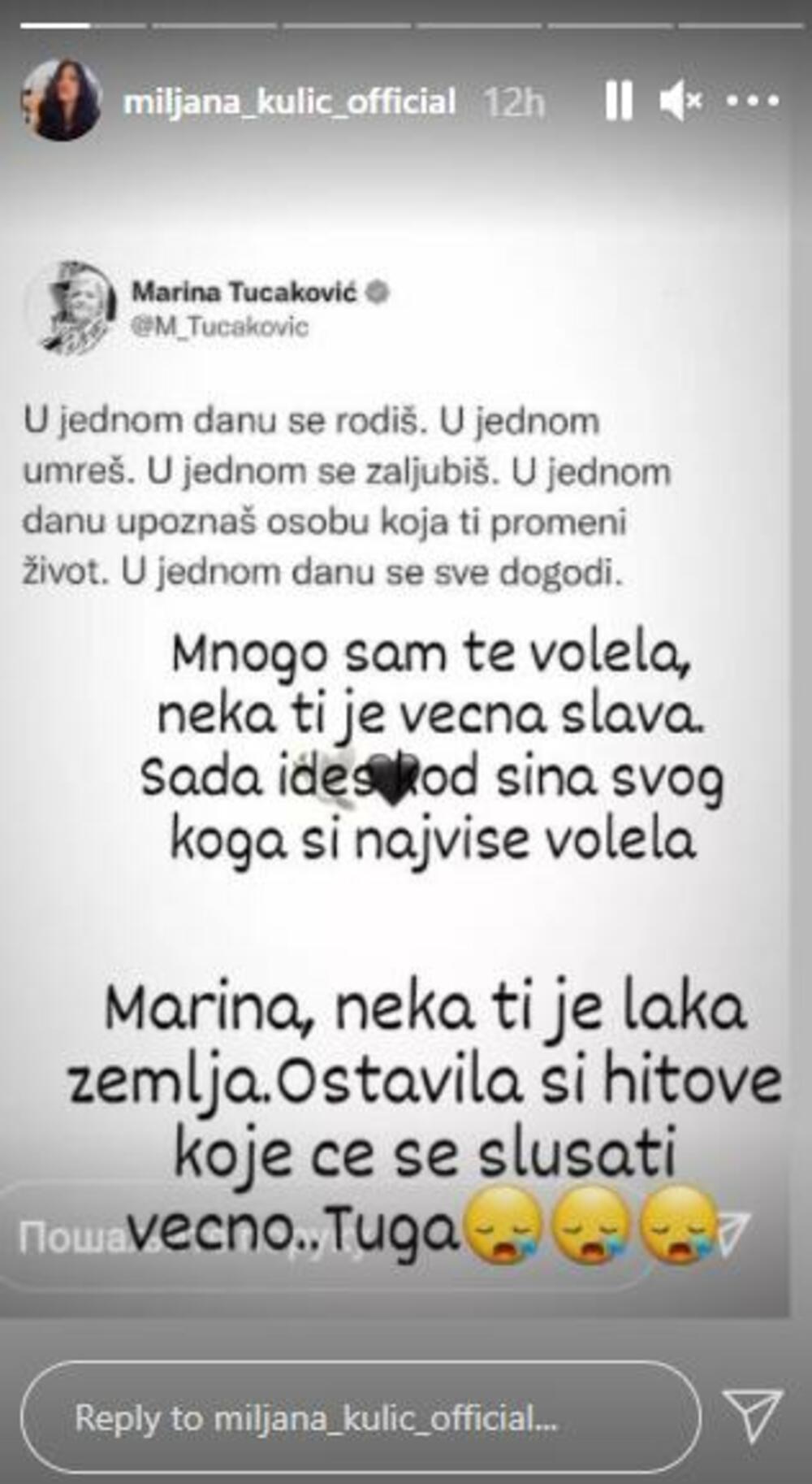 """SMRT POGODILA MILJANU KULIĆ! Neizmerna TUGA i potresno obraćanje javnosti: """"U jednom danu se sve dogodi!"""" NEUTEŠNA"""